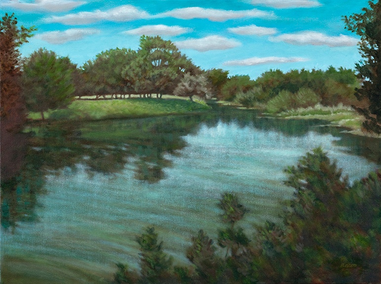 San Saba River at the Presidio